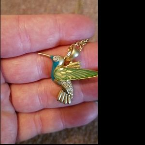 Blue & Green Bird Necklace